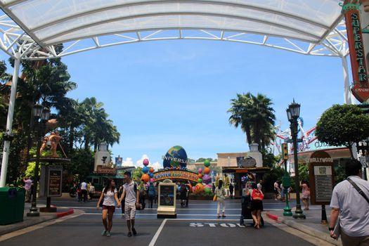 Easter egg island at Universal Studios Singapore in Sentosa, Sin