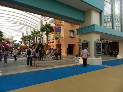 Hollywood theme at Universal Studios Singapore in Sentosa, Singa