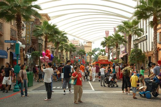 Universal Studios Singapore Hollywood theme in Sentosa, Singapor