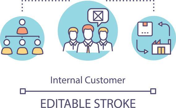 Internal customer concept icon