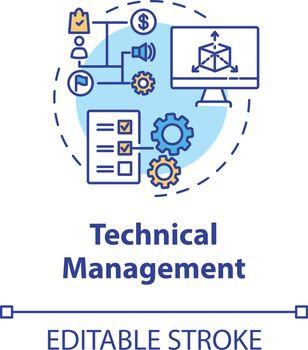 Technical management concept icon