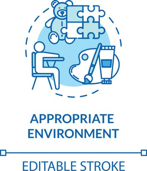 Kindergarten environment concept icon