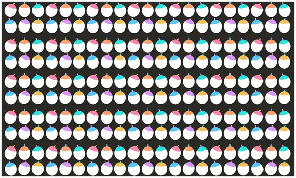 digital textile design of balloons on abstract background
