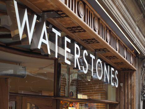 Waterstones bookshop storefront in Cambridge