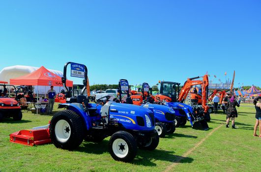 Agricultural machinery for sale; farmers show