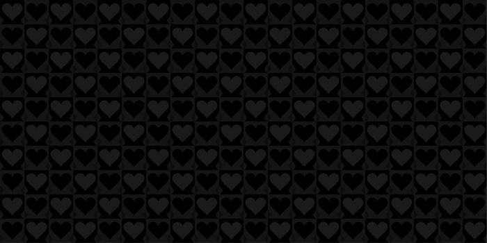 Dark Black Hearts Seamless Pattern. Vector Illustration Background Art. Vector illustration