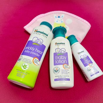 Chennai, India - July 4 2020: Baby Himalaya products placed beautifully in dark pink background and for smooth and soft skin
