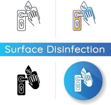Door knob disinfection icon
