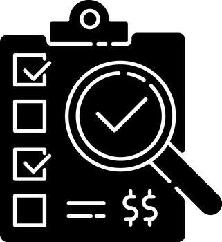 Inspection black glyph icon