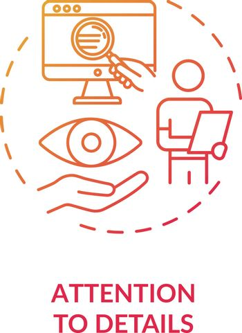 Attention to details concept icon