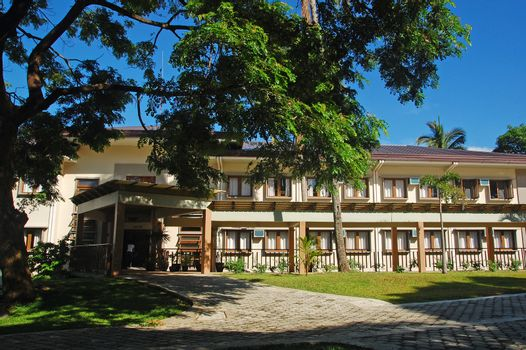 Lodging house facade at CCF Mount Makiling Recreation Center in