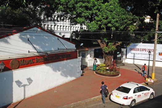 Mapua institute of technology college facade in Manila, Philippi