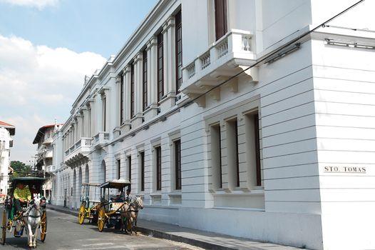 Ayuntamiento de Manila, housing Bureau of the Treasury facade at