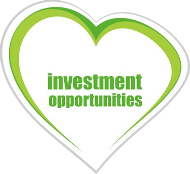 Business concept. words investment opportunities