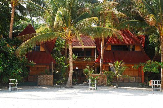 Lodging facade in Alona beach, Panglao island, Bohol, Philippine