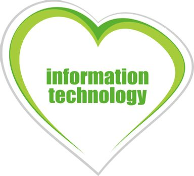 Text information technology. Business concept