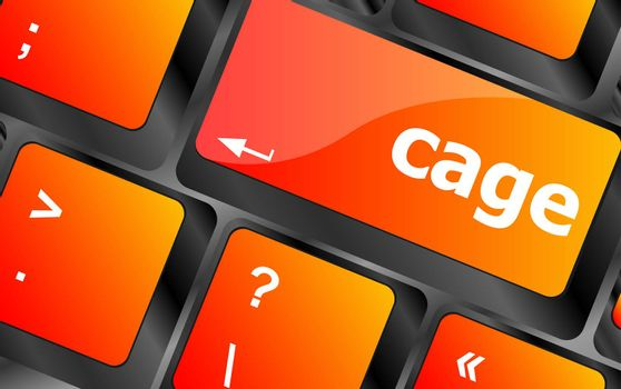 cage key on computer keyboard keys button