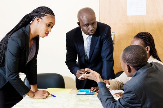 Group of business people in a meeting and discuss new ways of working in the office