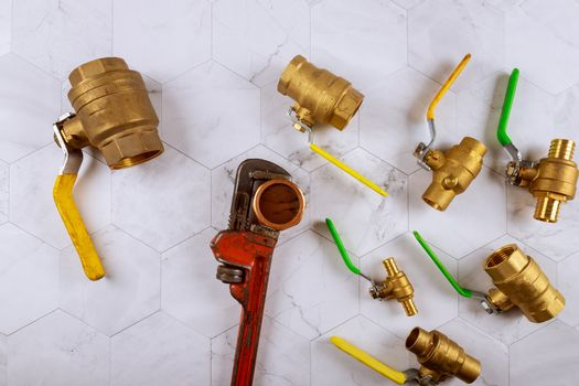 Installation plumbing parts monkey wrench construction brass plumbing fittings gate valve