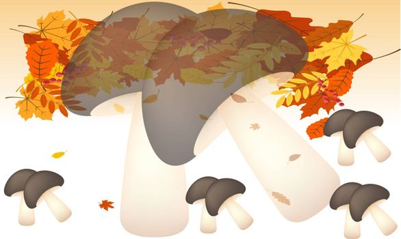 digital textile design of leaf and vegetables on abstract background
