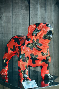 Modern sculpture; a porcelain dog