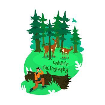 Conservation 2D vector web banner, poster