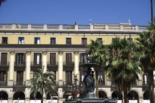 Barcelona, Spain Placa Reial - Royal Plaza.