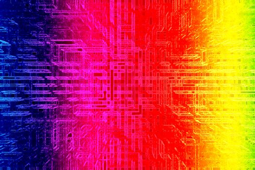 Futuristic abstract background for design. Technology wallpaper. Rainbow colors gradient.
