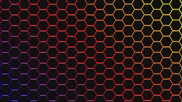 Spectrum colorfull hexagonal texture. Abstract background for design.