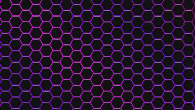Purple and violet hexagonal texture. Abstract background for design.