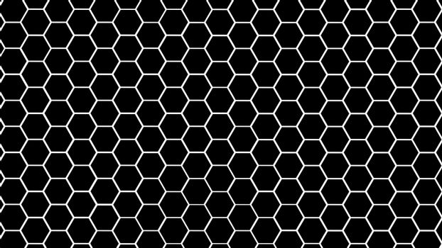 Black and white hexagonal texture. Abstract background for design.