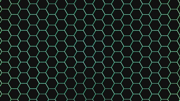 Cyan hexagonal texture. Abstract background for design.