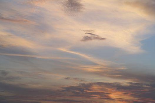 The beautiful sky when the sun reflects