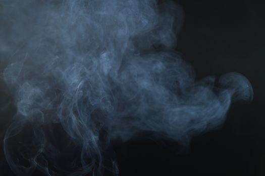 White smoke, black background, used as the background image.