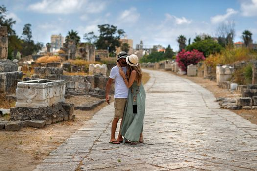 Happy Couple Traveling