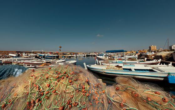 Harbor of Fishing Boats