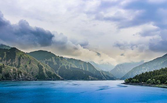 Tianchi is an alpine lake in Bogda Shan, Xinjiang