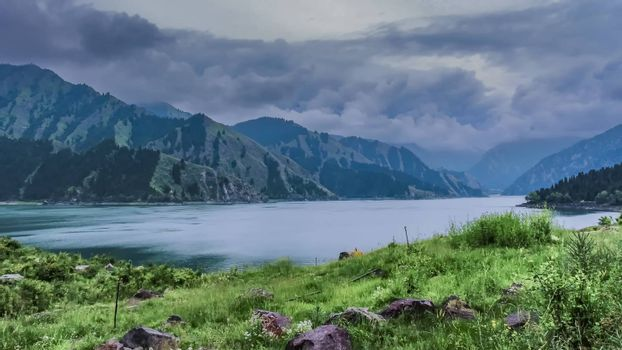 Tianchi Lake in the summer