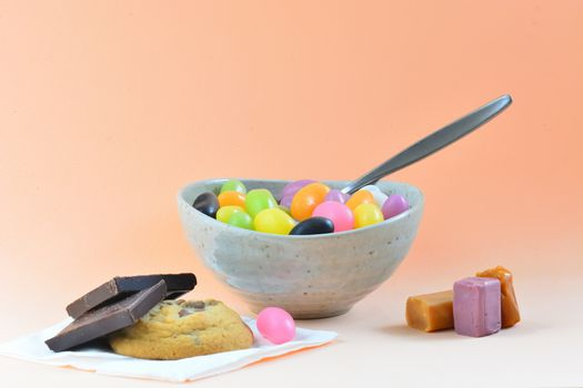Unhealthy diet reach in sugars and calories; modern world problem for child obesity