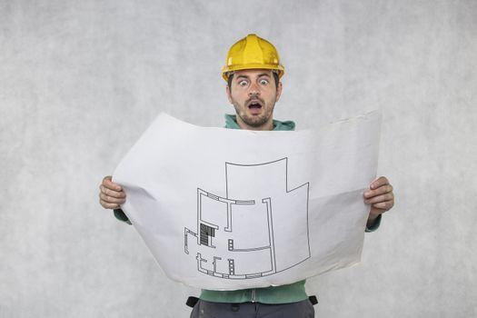 terrified builder shows apartment plans