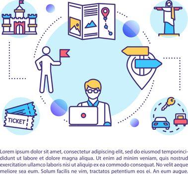 Local tourism bureau concept icon with text