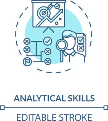 Analytical skill concept icon