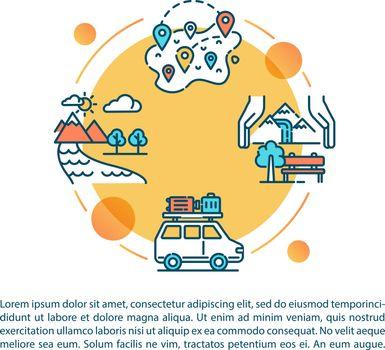 Domestic tourism destinations concept icon with text