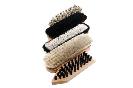 brushes for shoes isolated on a white background