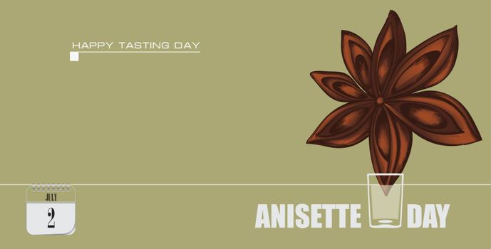 Post card for event july day Anisette Day