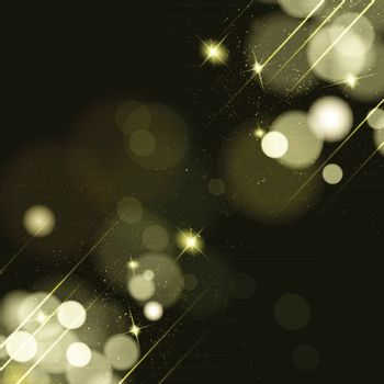 Abstract background with twinkling stars vintage.