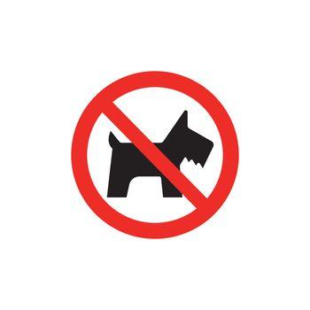 Prohibition sign (pictogram) /No pets allowed