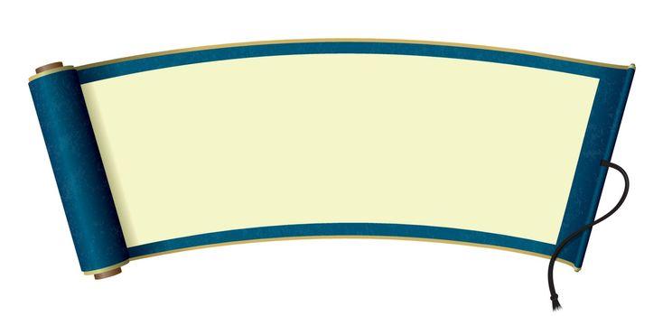 Japanese scroll paper illustration