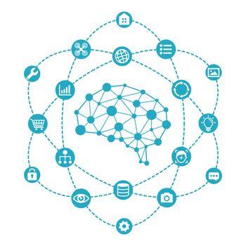 AI ( artificial intelligence ) image illustration.