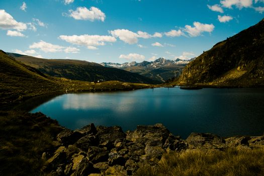 lake between the mountains in Andorra